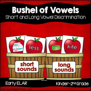 A Bushel of Short and Long Vowel Apple Activities
