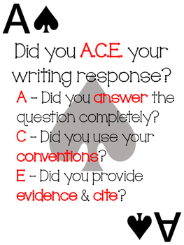 A.C.E Card Signage and Grading Sheets