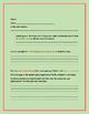 A CHRISTMAS FABLE ACTIVITY:   GRADES 4-8 (ELA activity/Cro