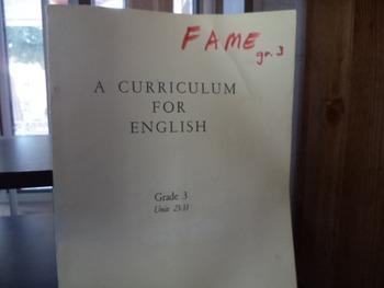 A CURRICULUM FOR ENGLISH