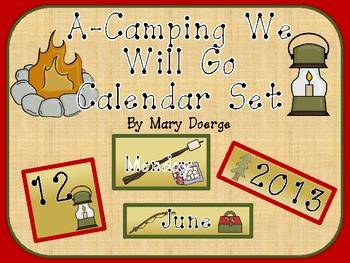 A-Camping We Will Go Calendar Set