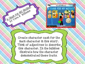 A Chair for My Mother Read Aloud Character Cash