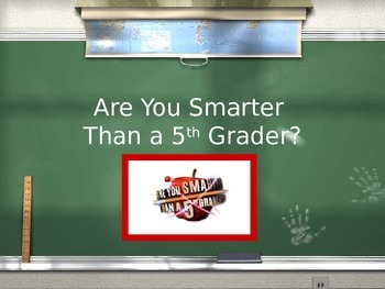 A Changing Nation Review Game- Are you Smarter than a 5th Grader