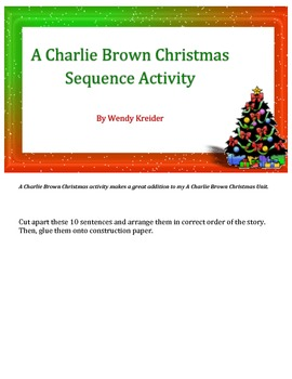 A Charlie Brown Christmas Sentence Sequence