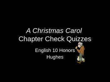A Christmas Carol Chapter Check Quiz PPT
