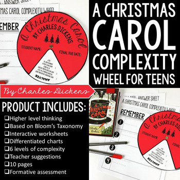 A Christmas Carol Complexity Wheel