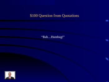 A Christmas Carol Jeopardy