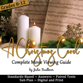 A Christmas Carol Movie Viewing Guide, Questions, Prompts,