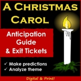 A Christmas Carol Novel Anticipation Guide (Plus Exit Tickets)