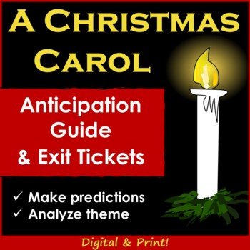 A Christmas Carol Novel Anticipation Guide (Plus Exit Tickets)
