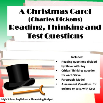 A Christmas Carol Reading, Thinking, Test Questions (Charl