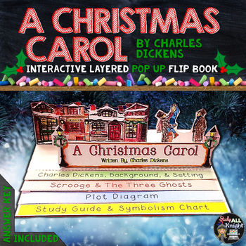 a christmas carol literature guide reading writing pop up flip book - When Was A Christmas Carol Written