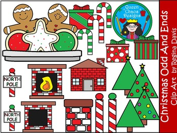 A+ Christmas Odds And Ends Clip Art...Color And Black And