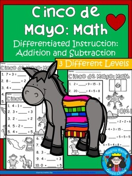 A+ Cinco de Mayo: Math... Addition and Subtraction Differe