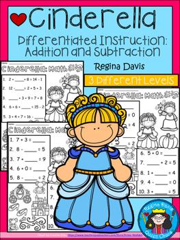 A+ Cinderella: Math... Addition and Subtraction Differenti