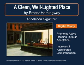 """""""A Clean, Well-Lighted Place"""" by Ernest Hemingway: Annotat"""