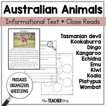 Close Read- Australian Animals