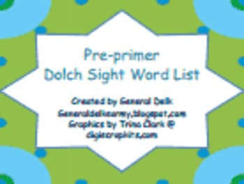 A Collection of Dolch Sight Words
