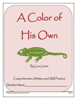 A Color of His Own {Comprehension and Written Response Act