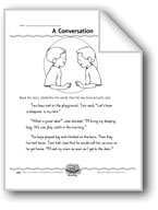 A Conversation (Direct Quotations)