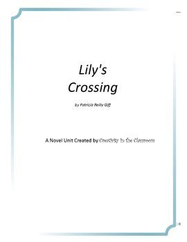 Lily's Crossing Novel Unit Plus Grammar