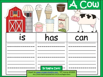 A+  Cow ... Three Graphic Organizers