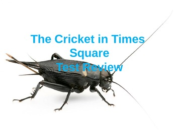 A Cricket in Times Square Test Review Powerpoint