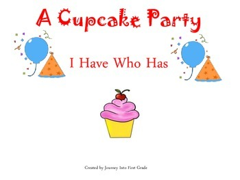 A Cupcake Party I Have Who Has (Journeys Common Core Readi