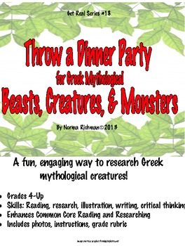 EASY LESSON FOR GREEK MYTHOLOGICAL CREATURES! RESEARCH, WR