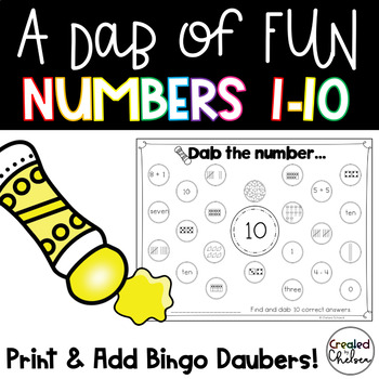 A Dab of Fun {Bingo Dauber Activities for Numbers to 10}