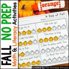 Fall Activities {Math & Literacy for Kindergarten} NO PREP