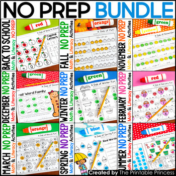 A Dab of Learning {Literacy & Math Bingo Dabber Activity P