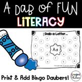 A Dab of MORE Fun {Literacy Printables with Bingo Daubers}