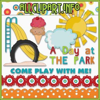 A Day At The Park Clip Art - Cheryl Seslar Clip Art