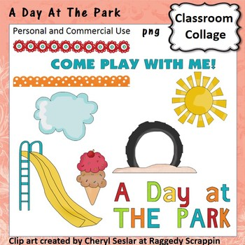 A Day At The Park - Color - pers/com  slide playground tir
