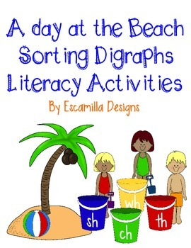 Digraph Literacy Activities: ch, sh, th, wh: A Day at the Beach
