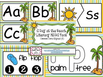 A Day at the Beach Summer MEGA Literacy Pack ~ ABC, Syllab