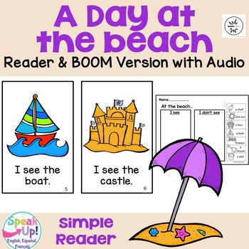 A Day at the Beach Reader and Sorting Activity {Young Read