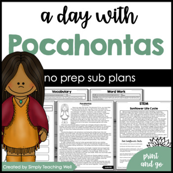 A Day with Pocahontas Mini Unit