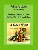 A Day's Work Common Core Lesson and Worksheet