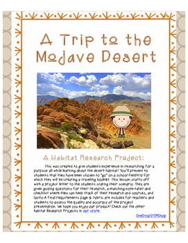A Desert Habitat Research Activity- A Trip to the Mojave Desert