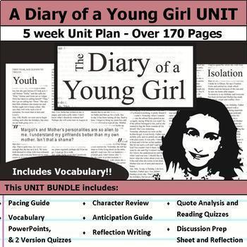 A Diary of a Young Girl Complete Unit Plan