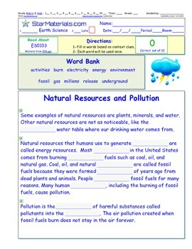 A Differentiated I-Cloze for iPads or Paper - Natural Reso