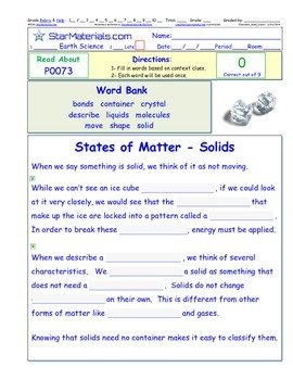 A Differentiated I-Cloze for iPads or Paper - States of Ma
