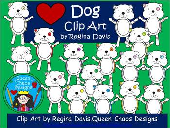 A+ Dog With Spots Clip Art