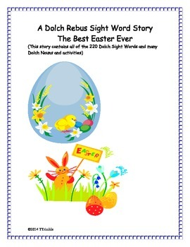 A Dolch Rebus Sight Word Story -The Best Easter Ever