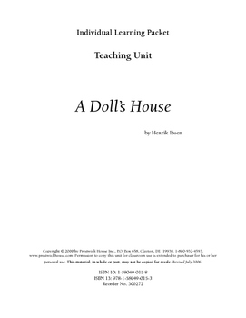 A Doll's House Teaching Unit