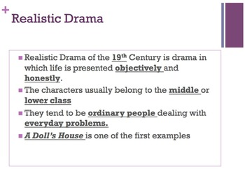 A Doll's House Introduction Powerpoint & Student Fill in t