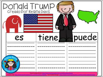 A+ Donald Trump...Three Spanish Graphic Organizers