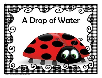 A Drop of Water - 4th Grade Activities and Trifolds ( Read